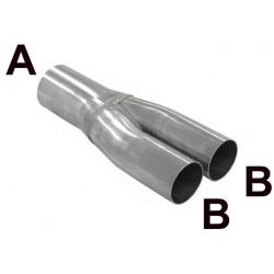 Grenrör Typ Y Rostfritt  50,8m - 44,5mm